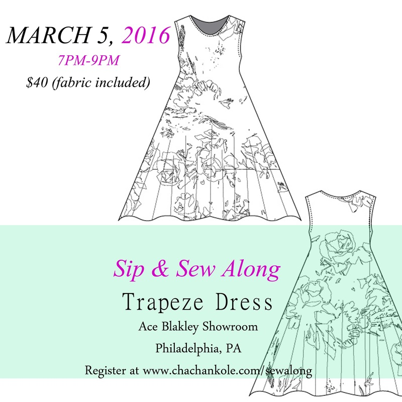 chacha n'kole trapeze dress sip and sew