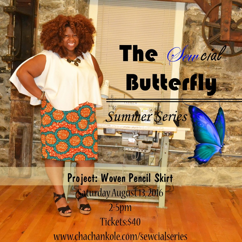 sewcial butterfly series- project: woven pencil skirt