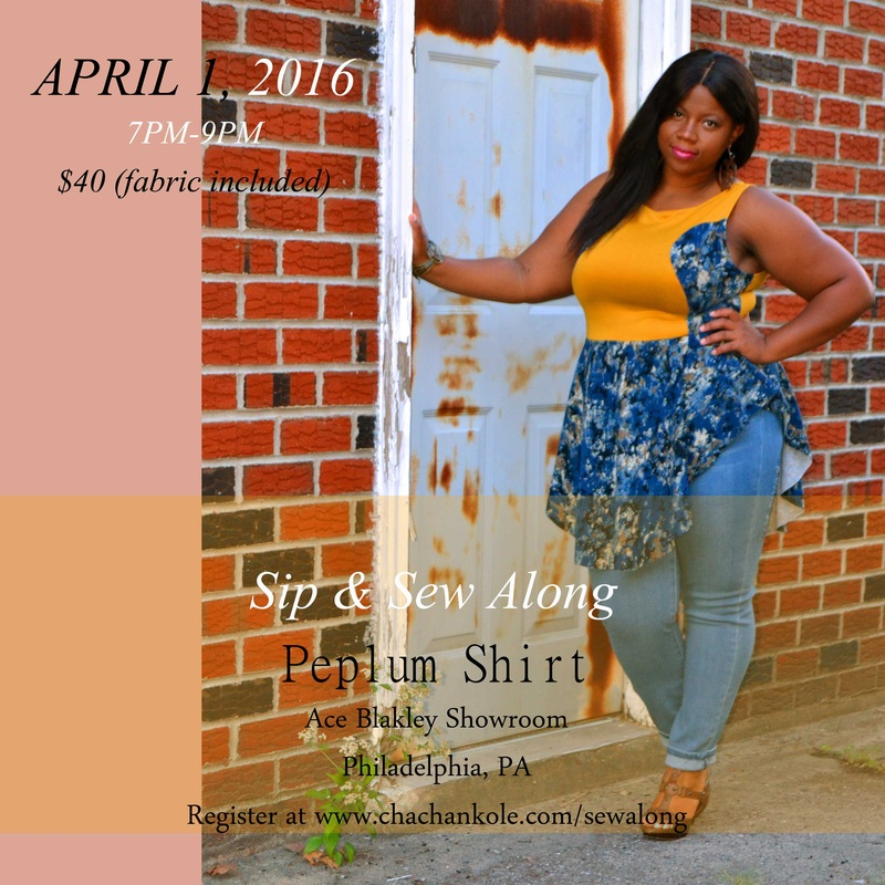 chacha n'kole peplum shirt sip and sew
