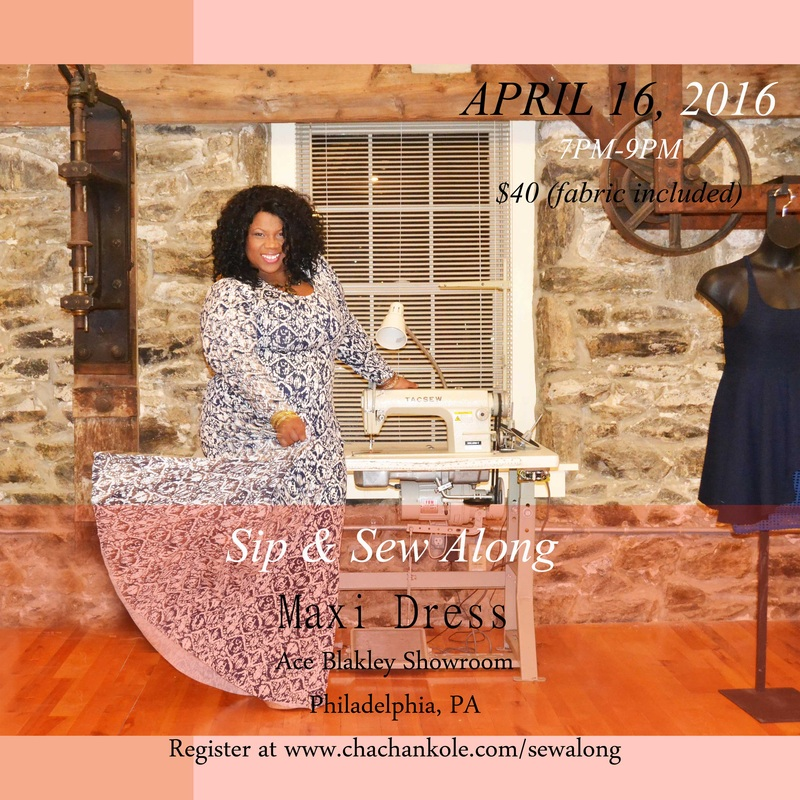chacha n'kole maxi dress sip and sew