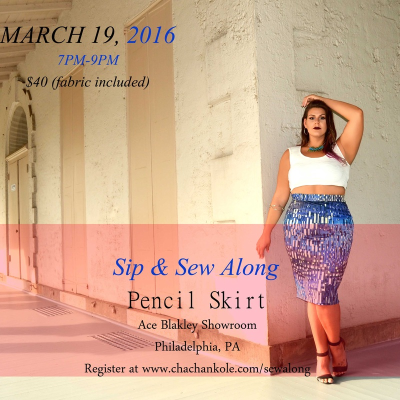 chacha n'kole pencil skirt sip and sew